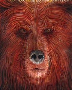 Brown Bear spirit face